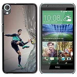 // PHONE CASE GIFT // Duro Estuche protector PC Cáscara Plástico Carcasa Funda Hard Protective Case for HTC Desire 820 / Ronaldo Fútbol /