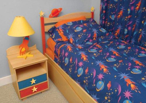 - Room Magic Twin Comforter/Bedskirt/Sham Set, Star Rocket