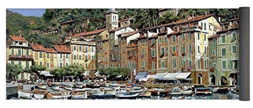Pixels Yoga Mat w/ Bag ''Portofino'' by Pixels