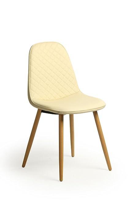 Juego de 2 sillas de diseño escandinavo nórdico, piel ...