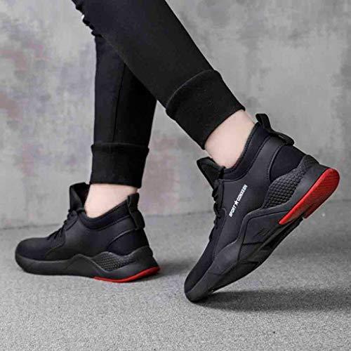 Fitness D'exécution Hommes Magiyard Tissé Voler Formateurs Noir Les La Casual En Chaussures Cours Sneaker Mode 7dHwqvWZH