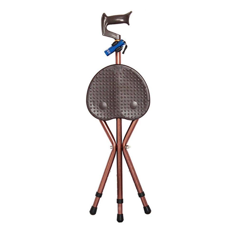 ベストセラー スリップ 三脚 折り畳み式 折り畳み式 折りたたみ 3脚杖 と スリップ Led, 調節可能な高さ と 高齢者 障害者 医療援助 マッサージ 歩行補助杖 松葉杖の椅子-コーヒー LED B07LCFS2LB, 灘崎町:0c2b6184 --- a0267596.xsph.ru