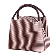 Tibes Reusable School Lunch Bags Children Canvas Lunch Bag Work Food Storage Tote Bag Girls Lunch Box Women
