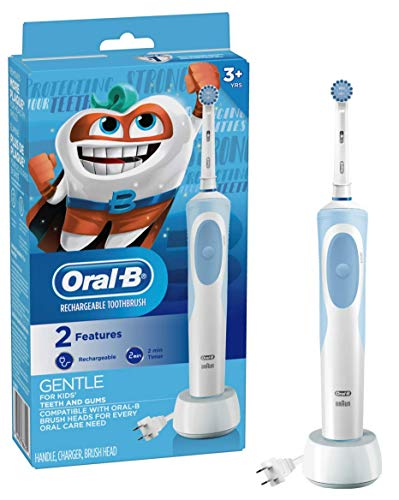 Oral-b Kids Electric Toothbrush With Sensitive Brush Head and Timer, for Kids 3+ -