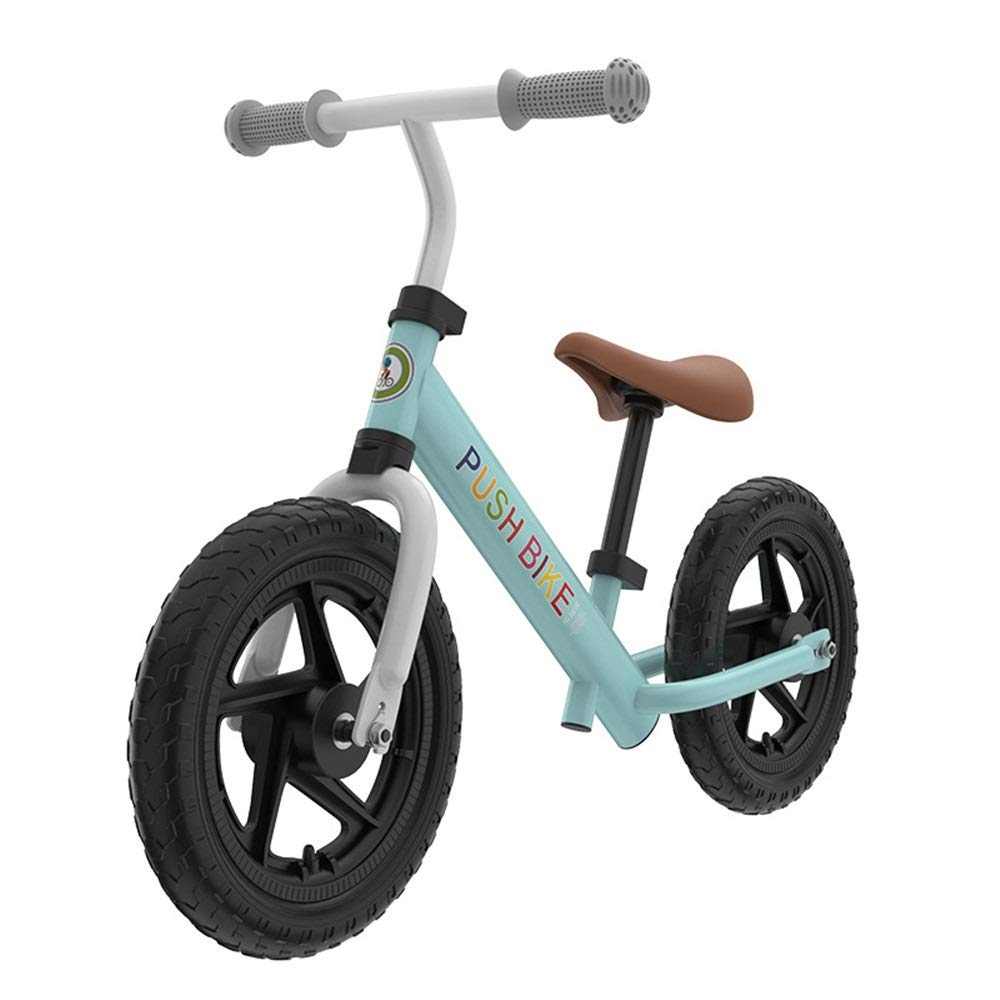 Cielo azul Zoueroih Bicicleta de Equilibrio Sport Balance Bike No Pedal Walking Bicicleta con Marco de Acero Balance de Aluminio para niños uomoillar Ajustable y Asiento 12 Pulgadas Bicicleta para niños 12 inches