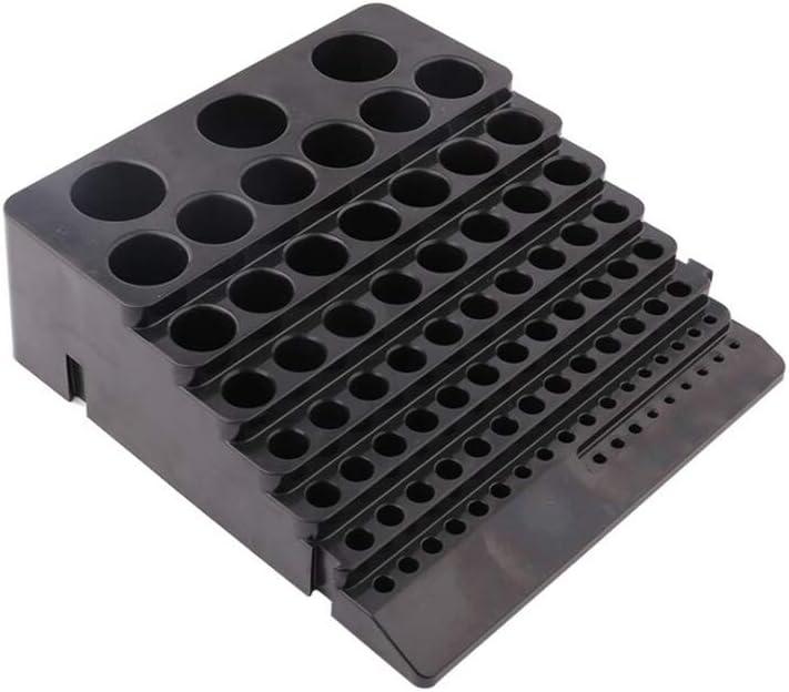 BIlinli Caja de Almacenamiento de Broca Negra Caja de Almacenamiento Fresa Fresa Acabado Soporte Organizador Funda