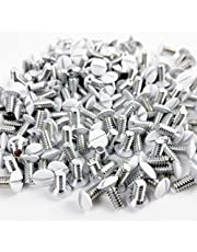 """200 Pcs White Wall Plate Screws, Switch Panel Screws for Electric Outlet Covers, Light Switch Panels, 3/8""""(9MM) 6-32"""