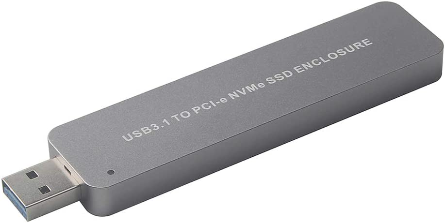 Docooler M.2 NVME to USB 3.0 Adapter M2 NGFF PCIE SSD Adapter Card Portable Hard Drive Enclosure Plug /& Play