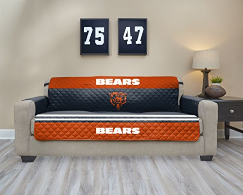 NFL Chicago Bears Sofa Waterproof Furniture Protectors With Pockets