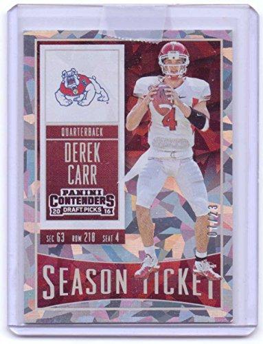 Derek Carr 2016 Panini Contenders Draft Picks Cracked Ice #29 - 07/23 - Oakland Raiders ()