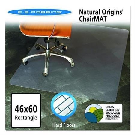 ES Robbins Natural Origins Chair Mat For Hard Floors, 46 x 6