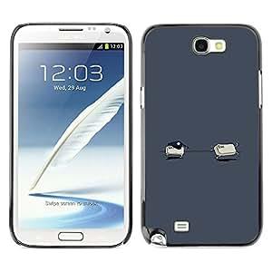 GIFT CHOICE / SmartPhone Carcasa Teléfono móvil Funda de protección Duro Caso Case para Samsung Note 2 N7100 /Ctrl Esc - Funny/