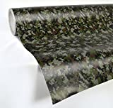 auto wrap camo - VVIVID Digital Camouflage Vinyl Wrap Film for DIY No Mess Easy to Install Air-release Adhesive (1ft x 5ft)