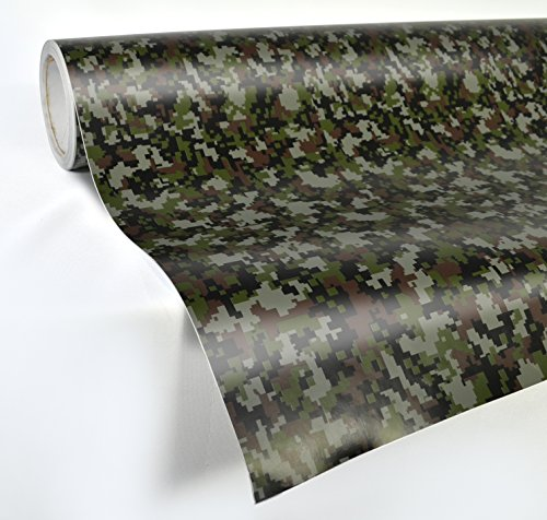 VViViD Digital Camouflage Vinyl Wrap Film for DIY No Mess Easy to Install Air-Release Adhesive (1ft x -