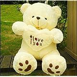 Flii 50 Cm Lovely Teddy Bear Big Toys Stuffed Plush Animals Hold the Heart Bear