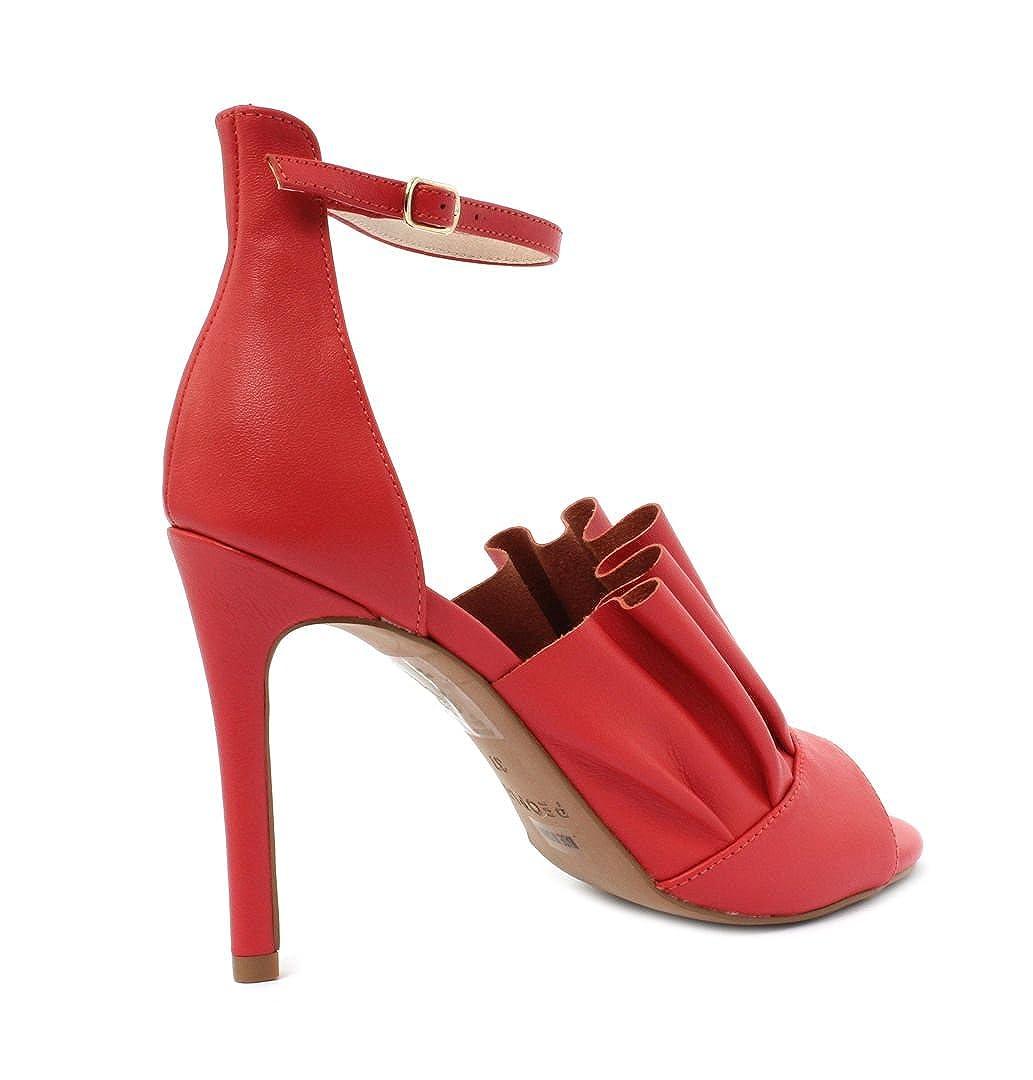 People Sandalo PLS18MA317AL3233rot Maia Maia Maia rot Leather WO'S Sandal 6cb153
