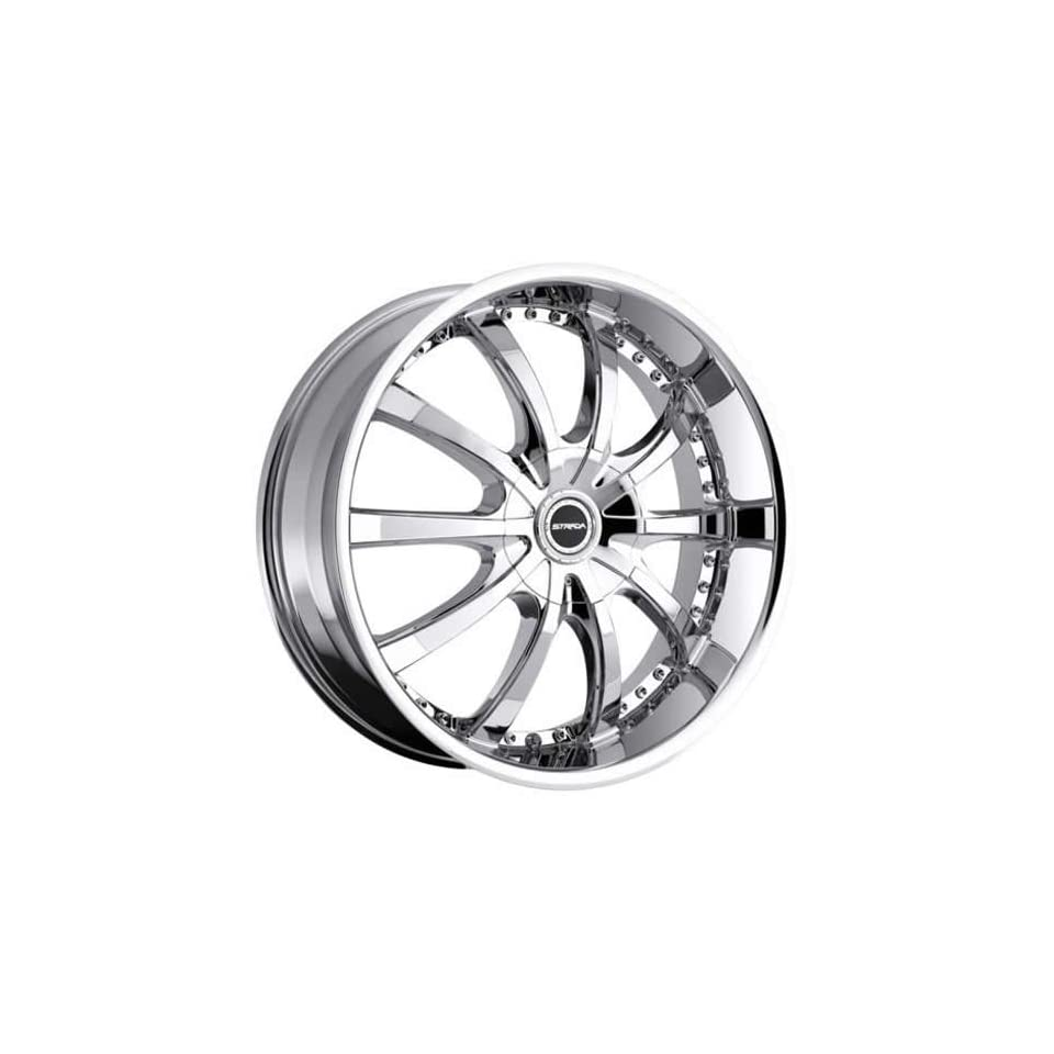 Strada Sole 22 Chrome Wheel / Rim 5x112 & 5x115 with a 40mm Offset and a 74.1 Hub Bore. Partnumber S20250240