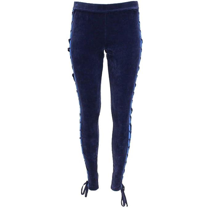 7499588c432c PUMA Womens Fenty by Rihanna Velour Lacing Tight Casual Pants   Shorts Navy