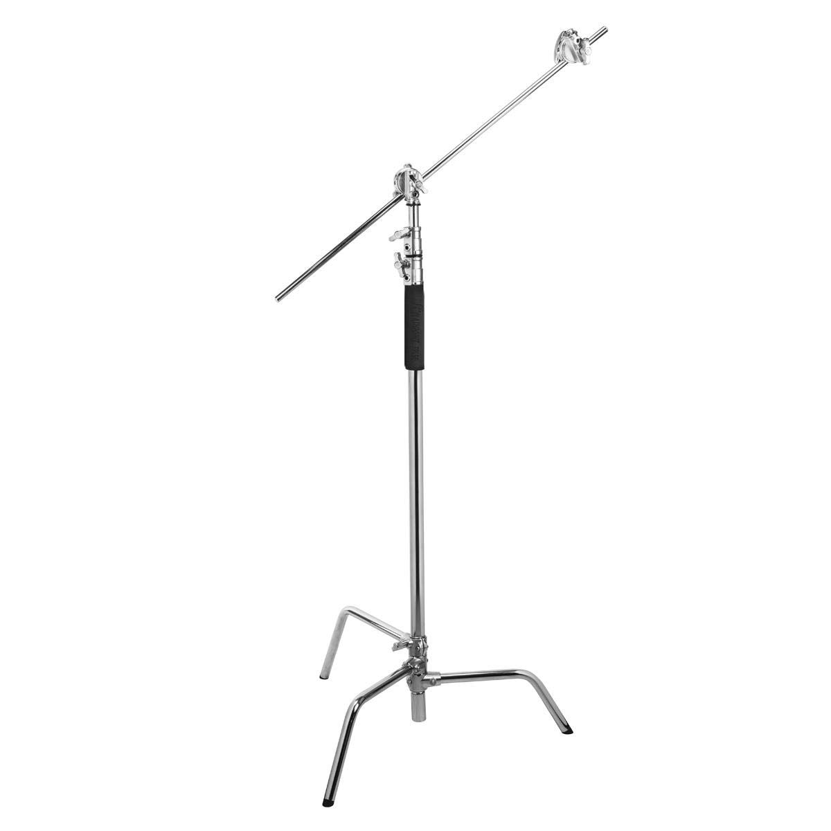 Century Chrome Flashpoint 10 C Light Stand on Turtle Base Kit w//40 Grip Arm /& 2 GOBO Heads and Baby Pin Kit of 3
