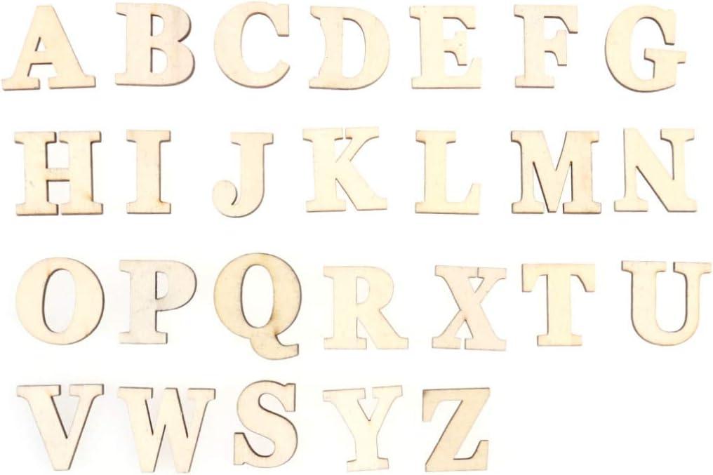 Artibetter 1 Set Wooden Letters Number Wooden Alphabet Embellishments Wooden Alphabet Letters for DIY Craft Scrapbooking Wedding Party Home Decoration