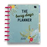 Boxclever Press 2019 Busy Days Planner Diary. Large, disc bound planner with month and week to view pages in full colour, pockets, stickers and extra clever features. Includes space to note your thoughts and ideas