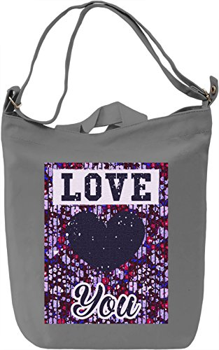 Love You Borsa Giornaliera Canvas Canvas Day Bag| 100% Premium Cotton Canvas| DTG Printing|