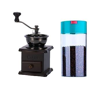 XLCFJ Molinillo de café de batido de Mano pequeño, Molino de Mano Desbrozadora de la