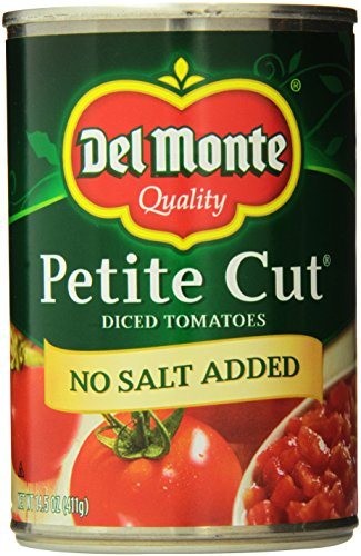 Del Monte Petite Diced Tomatoes, No Salt, 14.5 Ounce