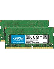 Crucial 32GB Kit (16GBx2) DDR4 2666 MT/s (PC4-21300) DR x8 SODIMM 260-Pin Memory - CT2K16G48FD8266