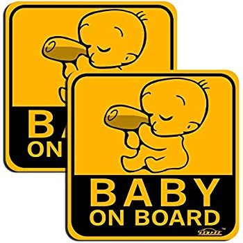 Personalised Child//Baby On Board Car Sign ~ Our Nephew On Board ~ L.Blue