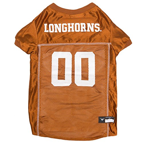Texas Jersey Longhorns Football (Pets First Collegiate Texas Longhorns Dog Mesh Jersey, X-Large)