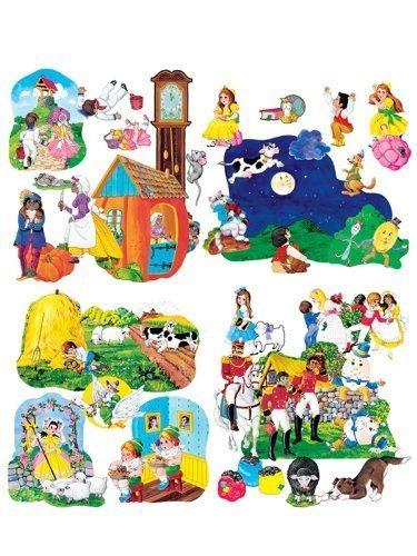 Nursery Rhymes Flannelboard Set - Little Folks Visuals LFV22005 Nursery Rhymes Pre-Cut Flannel Boards