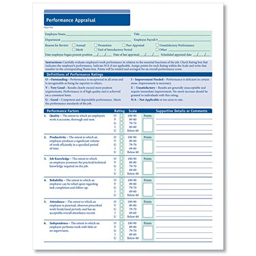 ComplyRight Performance Appraisal 50PK (Appraisal Forms)