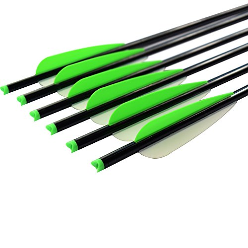 Elong 12X Crossbow Bolts 16 inch Aluminum Hunting Arrows Moon Nock Changeable Points