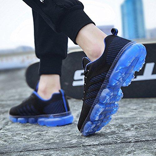 Respirante L Chaussure Homme Bulle Chaussure Course de Textile Loisir de Sport Jogging Sneaker de Running avec Coussin Outdoor TwrTqaB5