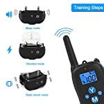 ALTMAN Dog Training Collar with 1000ft Remote Rechargeable Shock Collar 100% Waterproof with Beep Vibration and Shock Electric Collar for All Size Dogs from ALTMAN