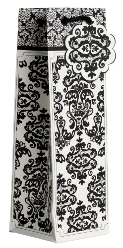 Jillson-Roberts-Bulk-Wine-and-Bottle-Gift-Bags-Black-Damask-120-Count-BBT418