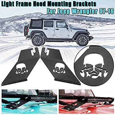 Pair 20inch 22inch Led Light Bar Mounts Hood Mounting