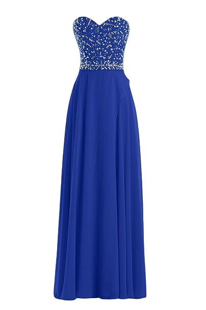 La novia de mujer en forma de corazón de la Toscana de imitación de la gasa vestido de bola vestidos de noche vestidos de fiesta largo: Amazon.es: Ropa y ...