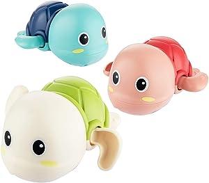 LYZZO Bath Toys for 1-5 Year Old Boy Girls Gifts Swim Pool Bath Toys for Toddler 1-3 Bathtub Toys for Baby Boy Birthday Gifts for 1-4 Year Old Boys Girls, 3pcs Set