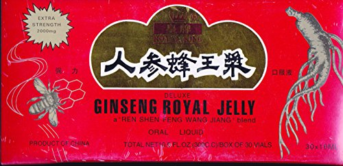 GINSENG Products Ginseng & Royal Jelly in A Honey Base 30 Vial, 0.02 Pound