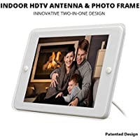 ANTOP Picture Photo Frame 4x6 Inches with Built-in Amplified TV Antenna Indoor 50 Miles Range Multi-Directional Reception for Watching TV Free
