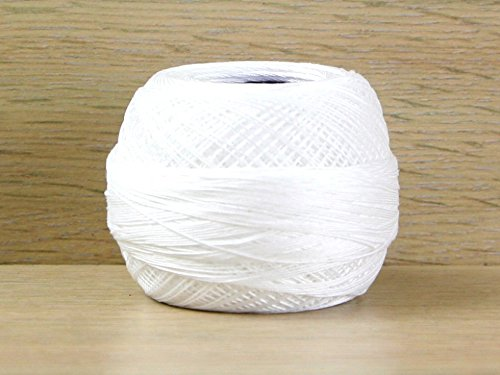 (DMC Cordonnet Cotton Crochet Thread Size 40 B5200 - per 20 gram ball)