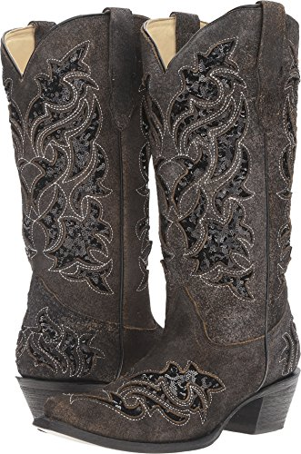 Corral Boots Women's R1152 Black/Black Boot