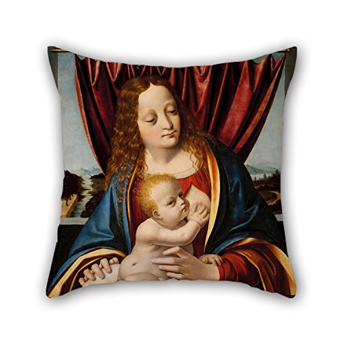 Uloveme Oil Painting Marco D' Oggiono - Madonna And Child Pillow Covers 20 X 20 Inches / 50 By 50 Cm Gift Or Decor For Drawing Room,festival,dining Room,home,bf,chair - Each (Marco Polo Costume)