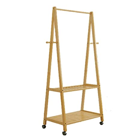 Amazon.com: Floor-Standing Coat Rack Bedroom Bamboo Bamboo ...