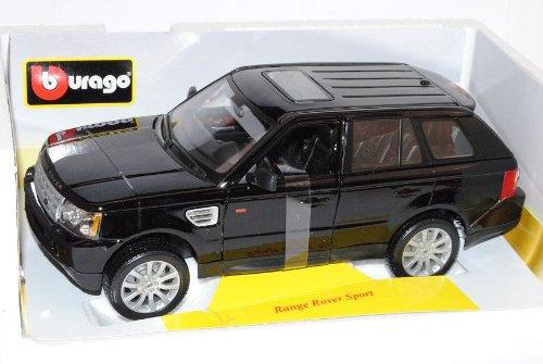 Bburago Range Range Range Rover Sport Schwarz Ab 2005 1/18 Modell Auto mit individiuellem Wunschkennzeichen 00f497