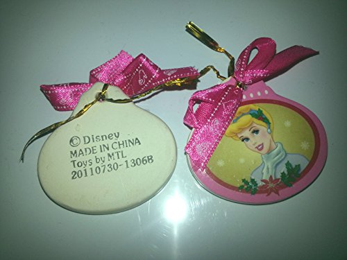 Disney Cinderella Christmas Ornament - Oval Porcelain with Pink Ribbon Disney Princesses Collectible Ornaments