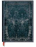 Carnet PAPERBLANKS ligné - Ultra 180×230mm - Reliure Classique à l''Ancienne série Acier Nuit