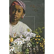 Journal: 6 X 9 Blank Lined Notebook, Frédéric Bazille Young Woman with Peonies, Beautiful Gift for Black Women, Art Lovers, Students, Teachers